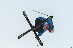 February 18, 2018 - Pyeongchang, Gangwon, South Korea - Jonas Hunziker of  Switzerland competing in slope style for men at phoenix park, Pyeongchang,  South Korea on Febuary 18, 2019. (Credit Image: © Ulrik Pedersen/NurPhoto via ZUMA Press)