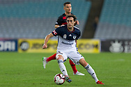 SYDNEY, AUSTRALIA - APRIL 27: Melbourne Victory midfielder Raœl Baena (15) controls the ball at round 27 of the Hyundai A-League Soccer between Western Sydney Wanderers FC and Melbourne Victory on April 27, 2019 at ANZ Stadium in Sydney, Australia. (Photo by Speed Media/Icon Sportswire)
