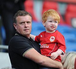 Cardiff City Fan. - Photo mandatory by-line: Alex James/JMP - Mobile: 07966 386802 30/08/2014 - SPORT - FOOTBALL - Cardiff - Cardiff City stadium - Cardiff City  v Norwich City - Barclays Premier League