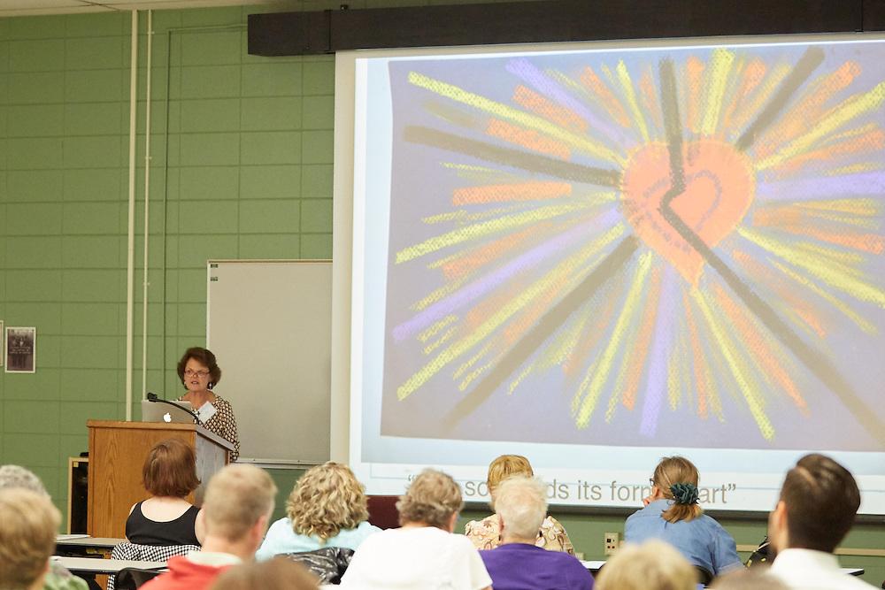 La Crosse, UW La Crosse memory quilt bereavement Conference Irene Renzenbrink, B.A.
