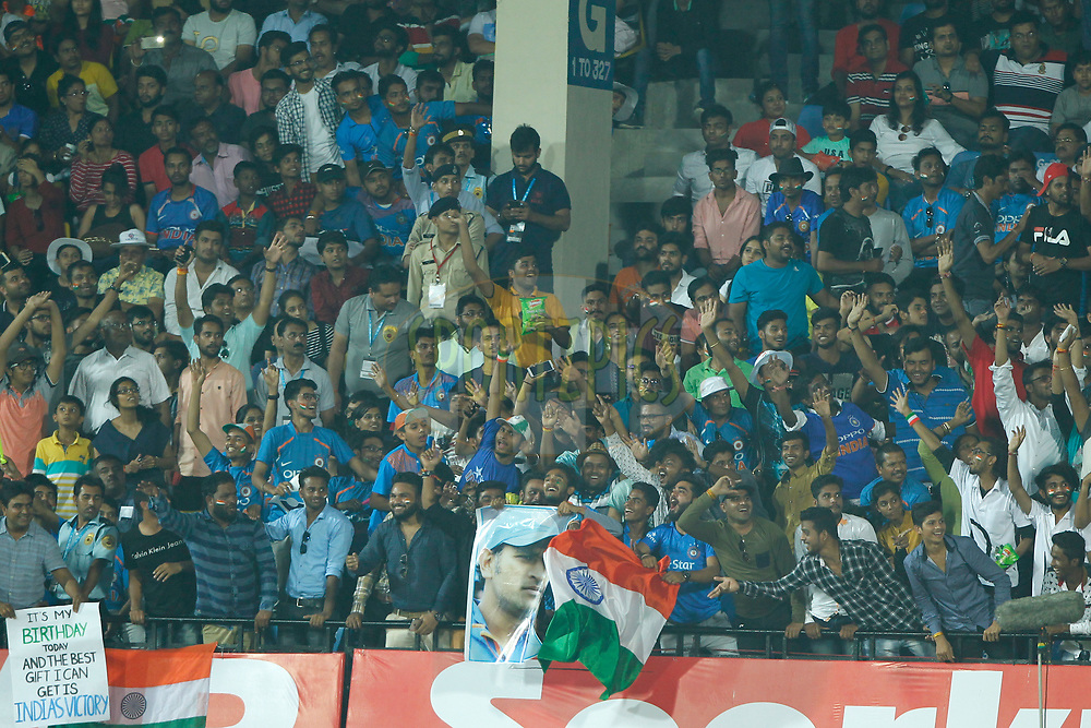 Fans during the 3rd One Day International between India and Australia held at the Holkar Stadium in Indore on the 24th  September 2017<br /> <br /> Photo by Deepak Malik / BCCI / SPORTZPICS