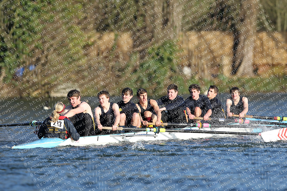 2012.02.25 Reading University Head 2012. The River Thames. Division 2. Southampton University Boat Club A Nov 8+