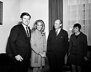 Edward Kennedy and his wife, Joan, pay a visit to Taoiseach Jack Lynch.<br /> 04/03/1970