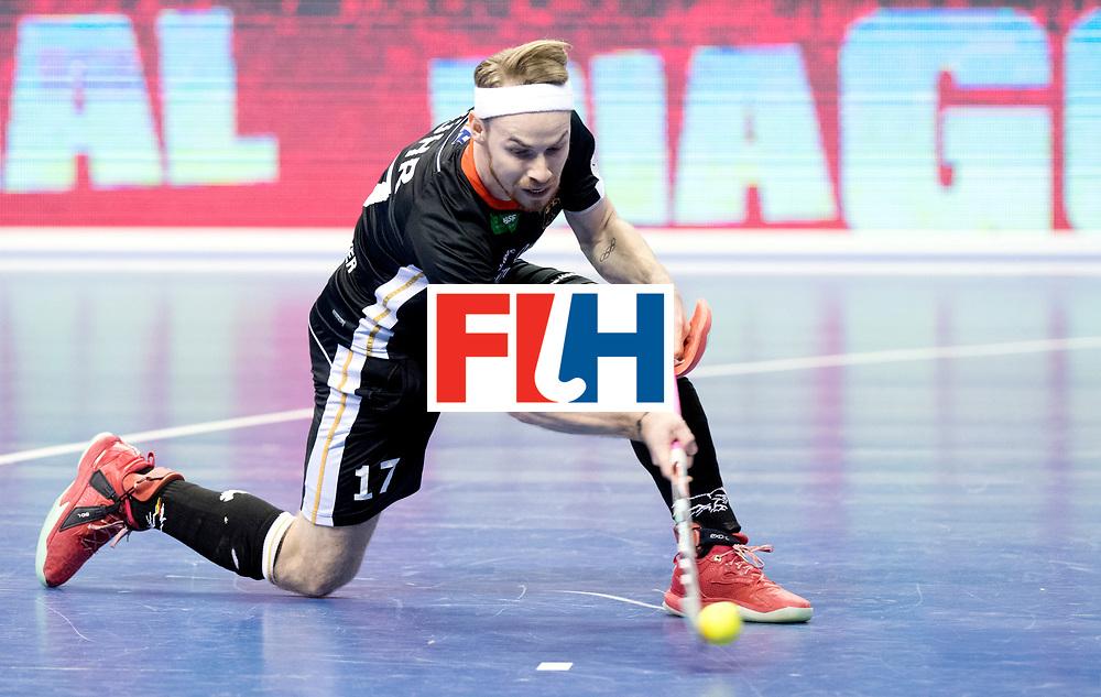 BERLIN - Indoor Hockey World Cup<br /> Semi-final 1: Germany - Iran<br /> foto: Christopher R&uuml;hr scores the penalty stroke.<br /> WORLDSPORTPICS COPYRIGHT FRANK UIJLENBROEK