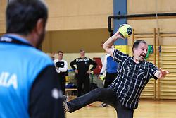 Fan at practice session of handball team Slovenia before the match against Germany, on May 01, 2017 in Vojasnica Edvarda Peperka, Ljubljana, Slovenia. Photo by Matic Klansek Velej / Sportida