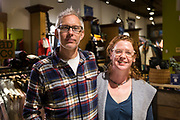 Tony Kattreh and Pam Schwarzbach pose for a portrait inside Hive of Madison on Monroe Street in Madison, Wisconsin, Friday, Nov. 23, 2018.