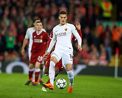 LIVERPOOL, ENGLAND - Tuesday, April 24, 2018: AS Roma's Patrik Schick during the UEFA Champions League Semi-Final 1st Leg match between Liverpool FC and AS Roma at Anfield. (Pic by David Rawcliffe/Propaganda)
