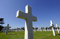 NORMANDY, FRANCE - MAY-01-2007 - The American Cemetery at Omaha Beach where 9,387 service personnel are interred, 307 of which are unknown. Among the fallen are 3 Medal of Honor recipients and four women. Over one million visitors come to pay their respects every year. (Photo © Jock Fistick)