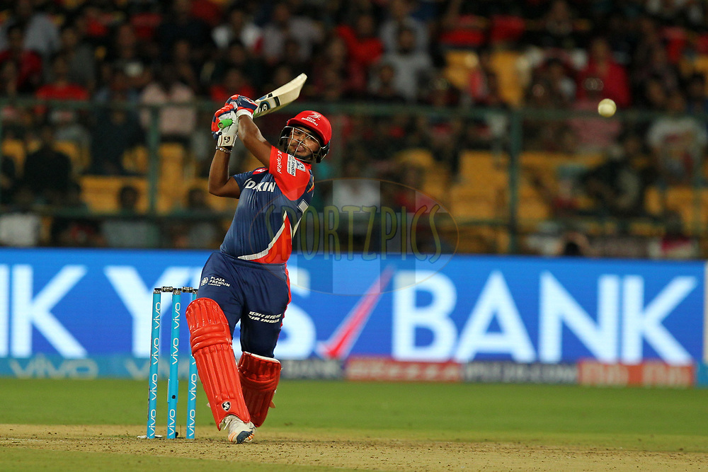 Rishabh Pant of Delhi Daredevils during match 5 of the Vivo 2017 Indian Premier League between the Royal Challengers Bangalore and the Delhi Daredevils held at the M.Chinnaswamy Stadium in Bangalore, India on the 8th April 2017Photo by Prashant Bhoot - IPL - Sportzpics