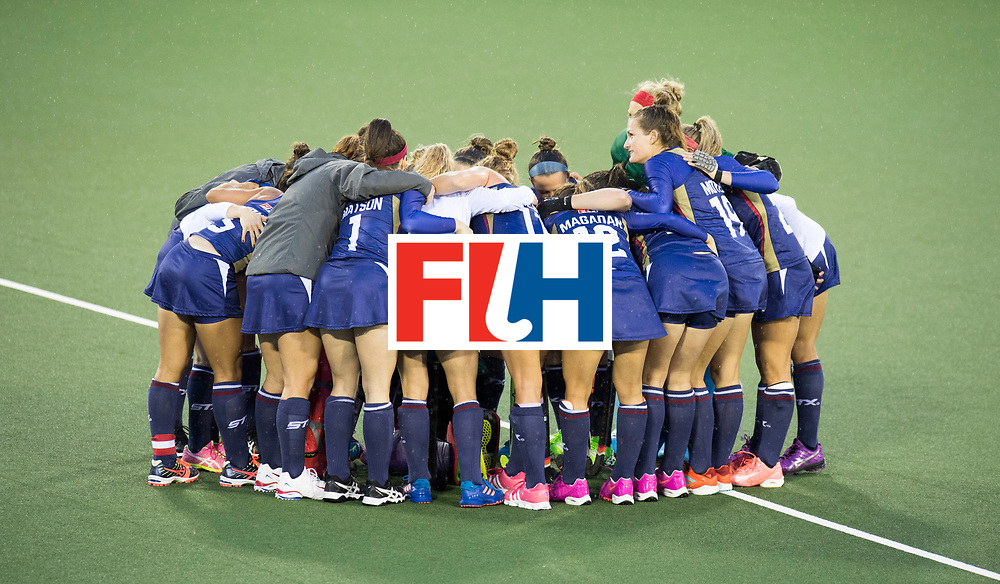 AUCKLAND - Sentinel Hockey World League final women<br /> Match id 10296<br /> 06 Usa v Netherlands<br /> Foto: Huddle USA.<br /> WORLDSPORTPICS COPYRIGHT FRANK UIJLENBROEK