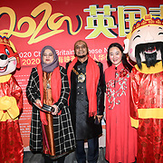 Cllr Humayun Kabir, wife and Connie Zhang attends the 2020 China-Britain Chinese New Year Extravaganza with 200 performers from over 20 art groups from both China and the UK showcase at Logan Hall on 18th January 2020, London, UK.