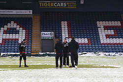 Crawley Town players inspect the pitch before kick off - Photo mandatory by-line: Matt McNulty/JMP - Mobile: 07966 386802 - 17.01.2015 - SPORT - Football - Rochdale - Spotland Stadium - Rochdale v Crawley Town - Sky Bet League One