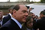 Rome 9 September 2009.Italian Prime Minister Silvio Berlusconi during the opening of the first national meeting of the young people of the PDL (People of Freedom)