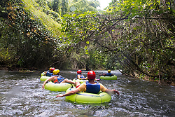 Tourists tubing down the White River, Ocho Rios, St. Ann, Jamaica