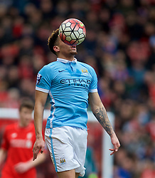 LIVERPOOL, ENGLAND - Sunday, February 7, 2016: Manchester City's Bryan Kean in action against Liverpool during the Under-21 FA Premier League match at Anfield. (Pic by David Rawcliffe/Propaganda)