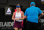 Simona Halep of Romania in action during the quarter-finals at the 2020 Adelaide International WTA Premier tennis tournament against Aryna Sabalenka of Belarus. Photo Rob Prange / Spain ProSportsImages / DPPI / ProSportsImages / DPPI