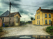 ROAD TRIP: Photographers Georgie Gillard and Rick Findler drove 1,973 miles and through nine countries for a friends wedding in Lake Garda, Northern Italy. Armed only with an iPhone and pushed for time, they decided to document their journey through the windscreen of their car.<br /> Pictured: Tongeren, Belgium.