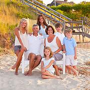 Family portrait on Breakwater Beach in Brewster on Cape Cod