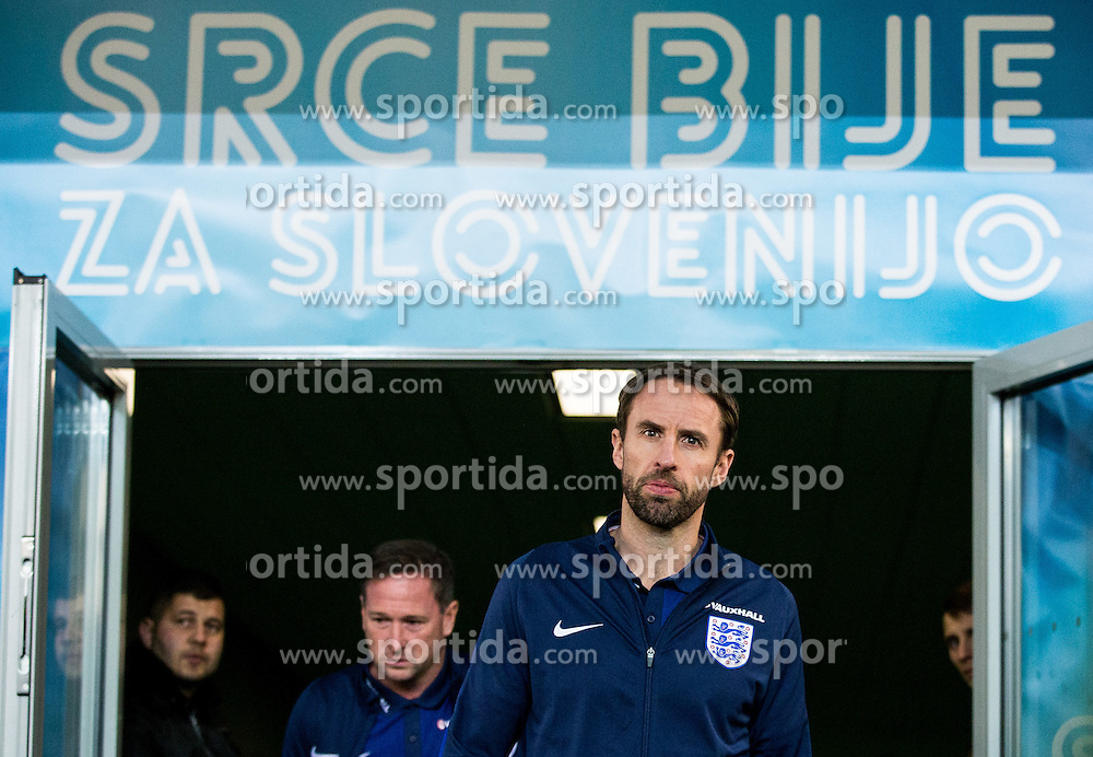 Interim Manager Gareth Southgate during a tour of the stadium before an England press conference ahead of the football match between National teams of Slovenia and England in Round #3 of FIFA World Cup Russia 2018 Qualifier Group F, on October 10, 2016 in SRC Stozice, Ljubljana, Slovenia. Photo by Vid Ponikvar / Sportida