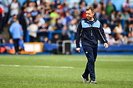 Cardiff Blues' Head Coach Danny Wilson during the pre match warm up<br /> <br /> Photographer Craig Thomas/Replay Images<br /> <br /> European Rugby Challenge Cup Round Semi final - Cardiff Blues v Pau - Saturday 21st April 2018 - Cardiff Arms Park - Cardiff<br /> <br /> World Copyright &copy; Replay Images . All rights reserved. info@replayimages.co.uk - http://replayimages.co.uk
