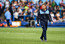 Cardiff Blues' Head Coach Danny Wilson during the pre match warm up<br /> <br /> Photographer Craig Thomas/Replay Images<br /> <br /> European Rugby Challenge Cup Round Semi final - Cardiff Blues v Pau - Saturday 21st April 2018 - Cardiff Arms Park - Cardiff<br /> <br /> World Copyright © Replay Images . All rights reserved. info@replayimages.co.uk - http://replayimages.co.uk