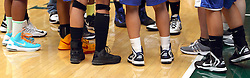 22 June 2013: Athletic sneakers worn during a basketball game. This image available for EDITORIAL USE ONLY. A release may be required. Additional information by contacting alook at alanlook.com