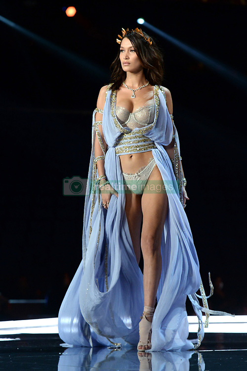 Bella Hadid on the catwalk for the Victoria's Secret Fashion Show at the Mercedes-Benz Arena in Shanghai, China