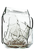 broken glass jar