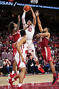 FAYETTEVILLE, AR - MARCH 9:  Daniel Gafford #10 of the Arkansas Razorbacks goes up for a shot during a game against the Alabama Crimson Tide at Bud Walton Arena on March 9, 2019 in Fayetteville, Arkansas.  The Razorbacks defeated the Crimson Tide 82-70.  (Photo by Wesley Hitt/Getty Images) *** Local Caption *** Daniel Gafford