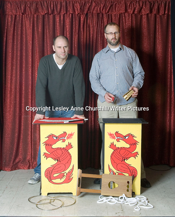 Sam Bain &amp; Jesse Armstrong<br /> Writers of Peep Show . New film called Magicians which also stars Mitchell and Webb<br /> <br /> copyright Lesley Anne Churchill/Writer Pictures<br /> contact +44 (0)20 822 41564<br /> info@writerpictures.com <br /> www.writerpictures.com
