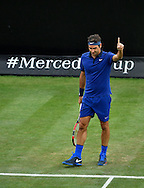Roger Federer during the Mercedes Cup at Tennisclub Weissenhof, Stuttgart<br /> Picture by EXPA Pictures/Focus Images Ltd 07814482222<br /> 08/06/2016<br /> *** UK & IRELAND ONLY ***<br /> EXPA-EIB-160608-0090.jpg