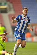 Man of the Match Wigan Striker Yanic Wildschut during the Sky Bet League 1 match between Wigan Athletic and Southend United at the DW Stadium, Wigan, England on 23 April 2016. Photo by John Marfleet.