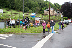 Spectators wait for the race to arrive near Whatstandwell during Stage 4 of the OVO Energy Women's Tour - a 123 km road race, starting and finishing in Chesterfield on June 10, 2017, in Derbyshire, United Kingdom. (Photo by Balint Hamvas/Velofocus.com)