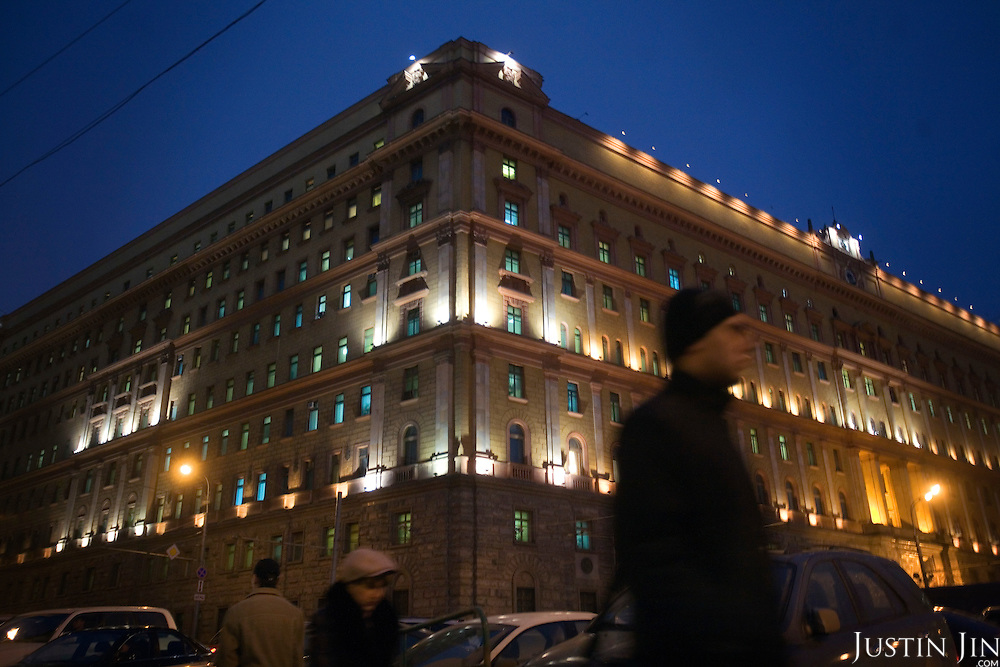 People walk past Moscow's Federal Security Bureau (FSB) building, the Lubyanka. For decades it was the headquarters of the secret service's notorious predecessor, the KGB.
