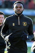 Mansfield Town defender Hayden White (2) in warm up  during the EFL Sky Bet League 2 match between Grimsby Town FC and Mansfield Town at Blundell Park, Grimsby, United Kingdom on 1 January 2019.