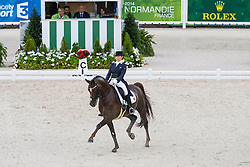 Tanya Seymour, (RSA), Ramoneur 6 - Grand Prix Team Competition Dressage - Alltech FEI World Equestrian Games™ 2014 - Normandy, France.<br /> © Hippo Foto Team - Leanjo de Koster<br /> 25/06/14