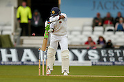 Sri Lanka Dasun Shanaka nicks England & Lancashire bowler James Jimmy Anderson  to England & Yorkshire wicket keeper Jonny Bairstow  during day 3 of the first Investec Test Series 2016 match between England and Sri Lanka at Headingly Stadium, Leeds, United Kingdom on 21 May 2016. Photo by Simon Davies.