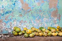 A pile of mangos for sale in Stone Town, Zanzibar, Tanzania