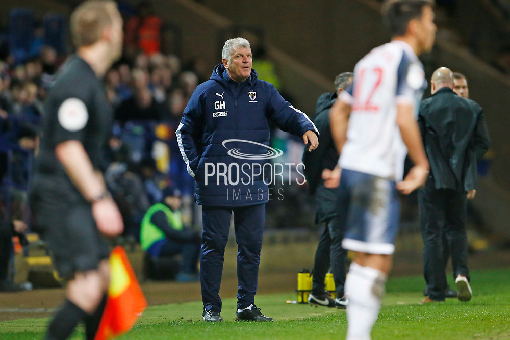 Glynn Hodges First Team Manager of Wimbledon during the EFL Sky Bet League 1 match between Bolton Wanderers and AFC Wimbledon at the University of  Bolton Stadium, Bolton, England on 7 December 2019.
