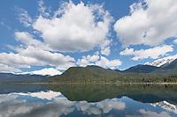 Mount Baker seen from east side of Baker Lake, North Cascades Washington.