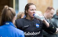 AMSTELVEEN -  keeper Wendela van Dedem (Hurley)   .Hoofdklasse competitie dames, Hurley-HDM (2-0) . FOTO KOEN SUYK