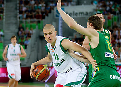Edo Muric of Slovenia during friendly match before Eurobasket Lithuania 2011 between National teams of Slovenia and Lithuania, on August 24, 2011, in Arena Stozice, Ljubljana, Slovenia. (Photo by Vid Ponikvar / Sportida)