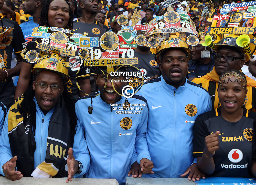 DURBAN, SOUTH AFRICA, 2015 - GV of action and fans during the TKO Final match between Mamelodi Sundowns and Kaizer Chiefs - December 16 Africa at the Moses Mabhida Stadium Durban, South Africa. (Photo by Steve Haag)<br /> Images for social media must have consent from Steve Haag