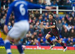 BIRMINGHAM, ENGLAND - Saturday, March 13, 2010: Everton's Mikel Arteta in action against Birmingham City during the Premiership match at St Andrews. (Photo by David Rawcliffe/Propaganda)