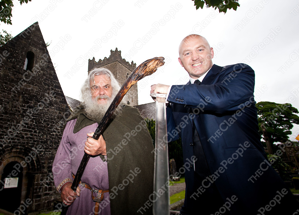 Free usage<br /> Two Irish legends, Keith Wood and Brian Bor&oelig;, become brothers in arms at the at the launch of this year&Otilde;s FŽile Brian Bor&oelig;, an action packed family festival spanning two weekends from June the 21st to 1st of July in the heritage town of Killaloe, County Clare with performances from Tommy Tiernan, Mary Coughlan, a medieval re-enactment camp, arts, culture and more with all info on www.feilebrianboru.com  .Pic: Alan Place /Press 22<br /> Free usage<br /> Two Irish legends, Keith Wood and Brian Bor&uacute;, become brothers in arms at the at the launch of this year&rsquo;s F&eacute;ile Brian Bor&uacute;, an action packed family festival spanning two weekends from June the 21st to 1st of July in the heritage town of Killaloe, County Clare with performances from Tommy Tiernan, Mary Coughlan, a medieval re-enactment camp, arts, culture and more with all info on www.feilebrianboru.com  .Pic: Alan Place /Press 22