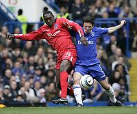 Alex Smertin and Emile Heskey. <br /> Chelsea v Birmingham. 09/04/05.