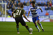 Reading's Paolo Hurtado takes on Everton's midfielder Leon Osman during the Capital One Cup match between Reading and Everton at the Madejski Stadium, Reading, England on 22 September 2015. Photo by Mark Davies.