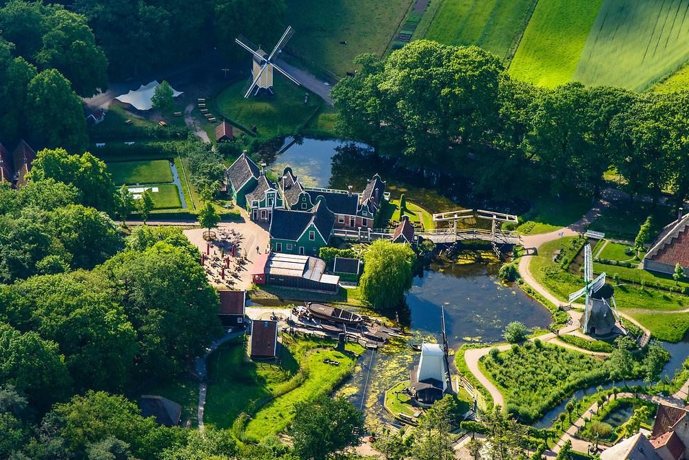Nederland, Gelderland, Arnhem, 29-05-2019; hart van het Nederlands Openluchtmuseum, met de Kasteelboerderij (restaurant). Thema de Nederlandse geschiedenis.<br /> Netherlands Open Air Museum. luchtfoto <br /> <br /> luchtfoto (toeslag op standard tarieven);<br /> aerial photo (additional fee required);<br /> copyright foto/photo Siebe Swart
