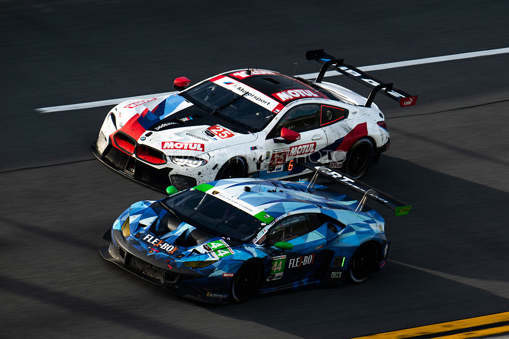 January 22-26, 2020. IMSA Weathertech Series. Rolex Daytona 24hr. #44 GRT Magnus Racing, Lamborghini Huracan GT3, GTD: John Potter, Andy Lally, Spencer Pumpelly, Marco Mapelli