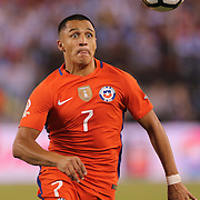 EAST RUTHERFORD, NEW JERSEY - JUNE 26:  Alexis Sanchez #7 of Chile in action during the Argentina Vs Chile Final match of the Copa America Centenario USA 2016 Tournament at MetLife Stadium on June 26, 2016 in East Rutherford, New Jersey. (Photo by Tim Clayton/Corbis via Getty Images)
